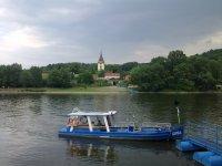 Pohled na řeku Labe kVelkým Žernosekám
