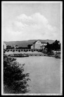 Pohled na splavové mlýny r. 1933