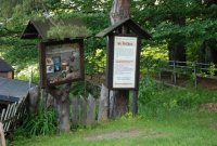Jeskyně na Špičáku– informační cedule