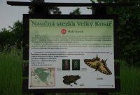 Přírodní rezervace Malý Kosíř– informační cedule