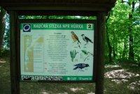 Národní přírodní rezervace Hůrka– informační cedule