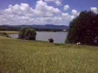 Pohled na rybník Dehtář