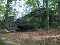Přirozené skalní výchozy vPR Choustník