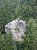 Prachovské skály jsou vyhledávány horolezci
