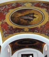 Nástropní malby vsakristii kostela