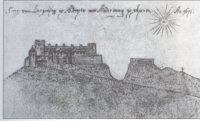Hrad Starý Jičín na vedutě 1671