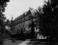 Stav zámku vroce 1888