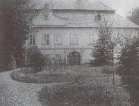 Zámek Jeseník nad Odrou na dobové fotografii