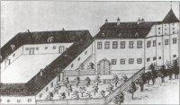 Zámek Jeseník nad Odrou na kresbě zr. 1817