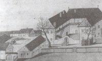 Zámek a hospodářský dvůr vr. 1817