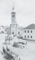 náměstí skostelem vr.1885
