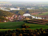 Pohled na obec ze Strážiště