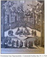 Svatořečení Jana Nepomuckého vLateránské bazilice