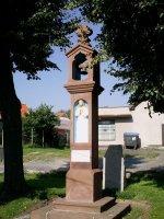 Pískovcová zvonice ze Srbína
