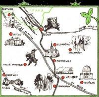 mapa Hrusic