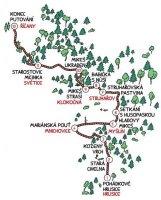 Mapa Mikešovy cesty