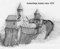 Koberštejn kolem roku 1370