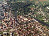 letecký snímek Veselí nad Moravou