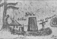 detail vstupu do štoly vpodání kronikáře Josefa Holuba